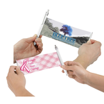 Banner Pen - Pink Ribbon - Plaid