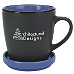 Double-up Mug w/Coaster - Black - 12 oz.