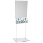 Floor Poster Stand w/5 Pockets - Clear