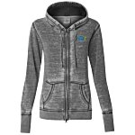 J. America Zen Full-Zip Hooded Sweatshirt-Ladies
