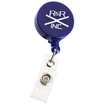 Economy Retractable Badge Holder - RD - Opaque - 24 hr