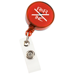 Economy Retractable Badge Holder - RD - Translucent - 24 hr