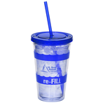 Wavy Color Scheme Spirit Tumbler - 16 oz. - 24 hr