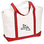 Large Heavyweight Cotton Canvas Boat Tote - Screen