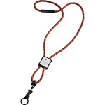 Nylon Power Cord Lanyard - Square - Multi