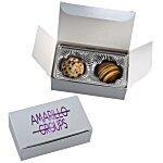 Truffles - 2 Pieces - Silver Box