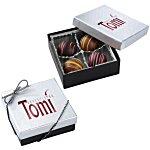 Truffles - 4 Pieces - Silver Box