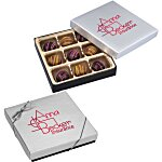 Truffles - 9 Pieces - Silver Box