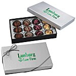 Truffles - 12 Pieces - Silver Box