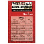 Bic 20 mil Calendar Magnet - Thank You - 24 hr