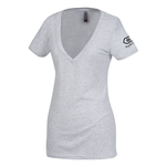 Next Level Tri-Blend Deep V-Neck T-Shirt - Ladies' - White