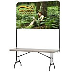 Tabletop Banner System w/Back Wall - 6'
