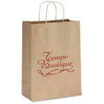 Brown Kraft Recycled Paper Bag  - 13-1/2