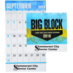 Big Block Calendar - Stapled