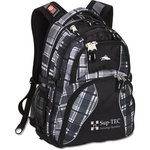 High Sierra Swerve Laptop Backpack - Screen - Plaid