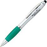 Curvy Stylus Twist Pen - Silver