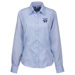 Wrinkle-Free Cotton Stripe Jacquard Shirt - Ladies'