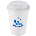 Paper Hot/Cold Cup with Traveler Lid - 12 oz.