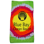 Tie Dye Beach Towel - Teardrop