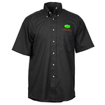 Soil Release Button Down SS Poplin Shirt - Men's - 24 hr