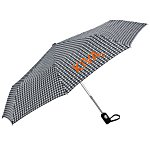 totes Auto Open/Close Umbrella - Houndstooth - 24 hr