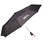 totes Auto Open/Close Umbrella - Polka Dots - 24 hr