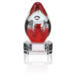 Lava Art Glass Award - Clear Base