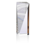Skyline Sheared Crystal Tower Award - 6