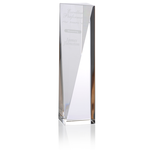 Skyline Sheared Crystal Tower Award - 10