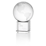 Globe Crystal Desktop Award - 4