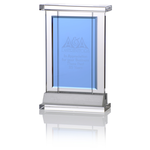 Indigo Celebration Crystal Award - Rectangle