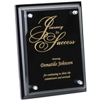 Black Finished Plaque w/Jade Glass Plate - 8