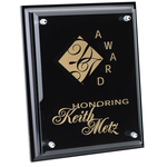 Black Finished Plaque w/Jade Glass Plate - 10