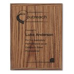 Simulated Oak Plaque - 9