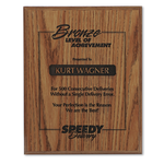 Simulated Oak Plaque - 10
