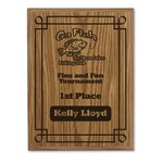 Simulated Oak Plaque - 12