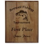 Walnut Finished Wood Plaque - 15