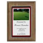 Walnut Finished Wood Plaque w/Digital Print - 7