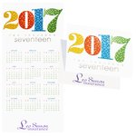 Mosaic Year Calendar Greeting Card