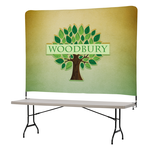 Tabletop Banner System w/Tall Back Wall - 8'