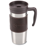 Cutter & Buck Leather Travel Mug - 14 oz.