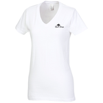 District Concert V-Neck Tee - Ladies' - White - Screen