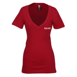 Next Level 3.7 oz. Deep V Tee - Ladies' - Screen