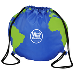 Globe Drawstring Backpack