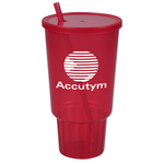 Car Cup w/Lid & Straw - 32 oz. - Jewel