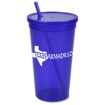 Stadium Cup w/Lid & Straw - 32 oz. - Jewel