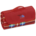 Roll-Up Blanket – Red/Blue Plaid w/Red Flap