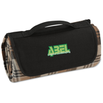 Roll-Up Blanket – Brown/Black Plaid w/Black Flap