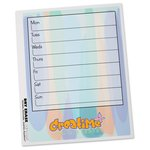 Removable Memo Board Sticker - Weekly - Watercolor