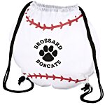 Game Time! Baseball Drawstring Backpack - 24 hr